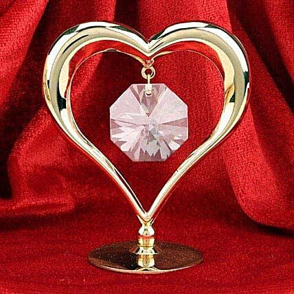 Swarovski heart:Gold Plated Gifts