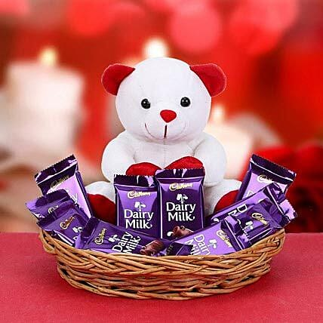 Chocolates with small teddy combo:Christmas Gifts Mumbai