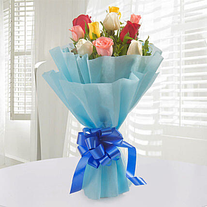 Colorful Hue - Bunch of 10 Mix roses.