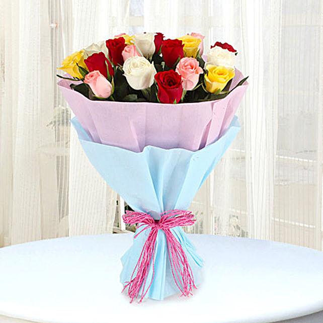 Elegant Mix - Bunch of 25 Mix colour roses.