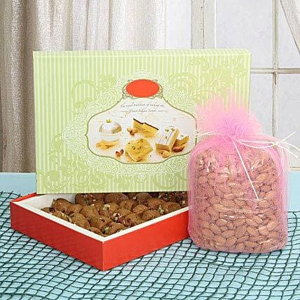 Sweets with dry fruits