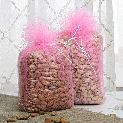 Almonds and pista