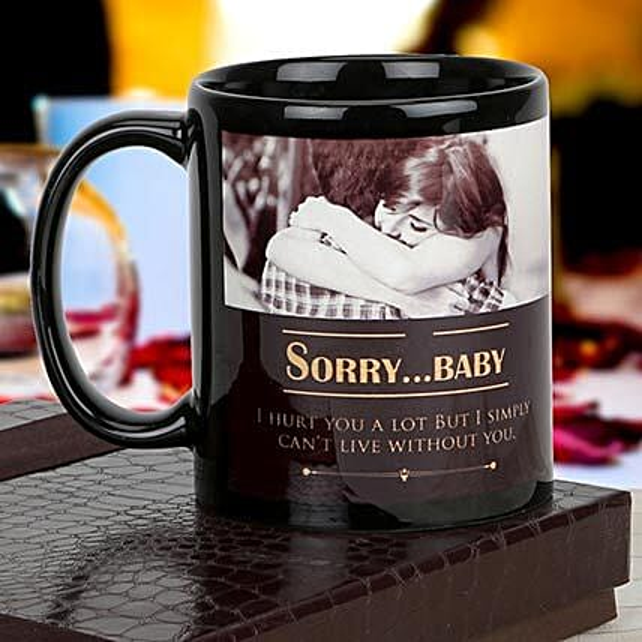 personalized sorry coffee mug