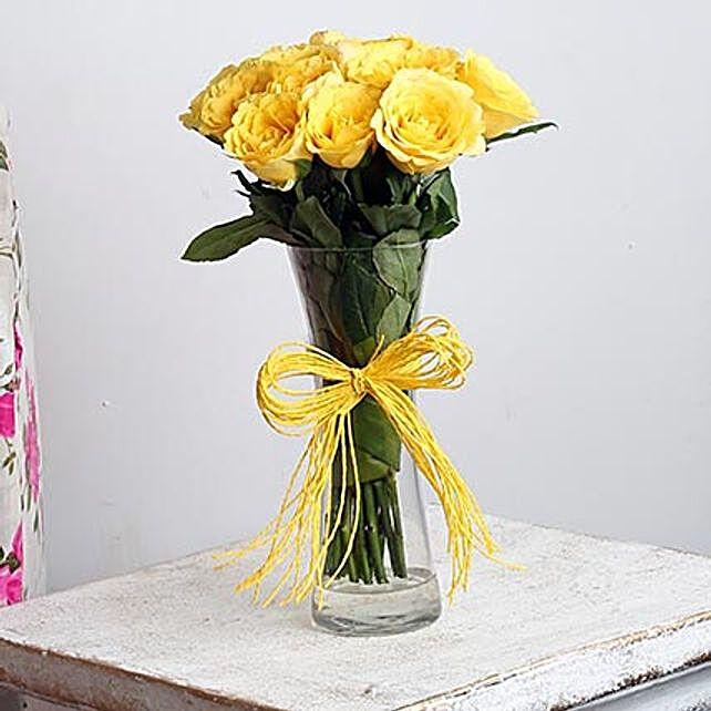 Yellow roses arrangement