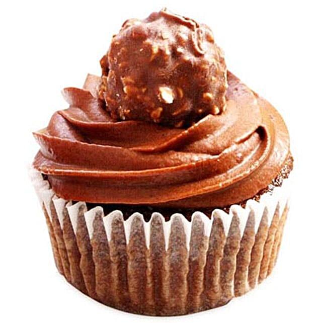 Ferrero Rocher Cupcake 6:Send Cup Cakes to Noida