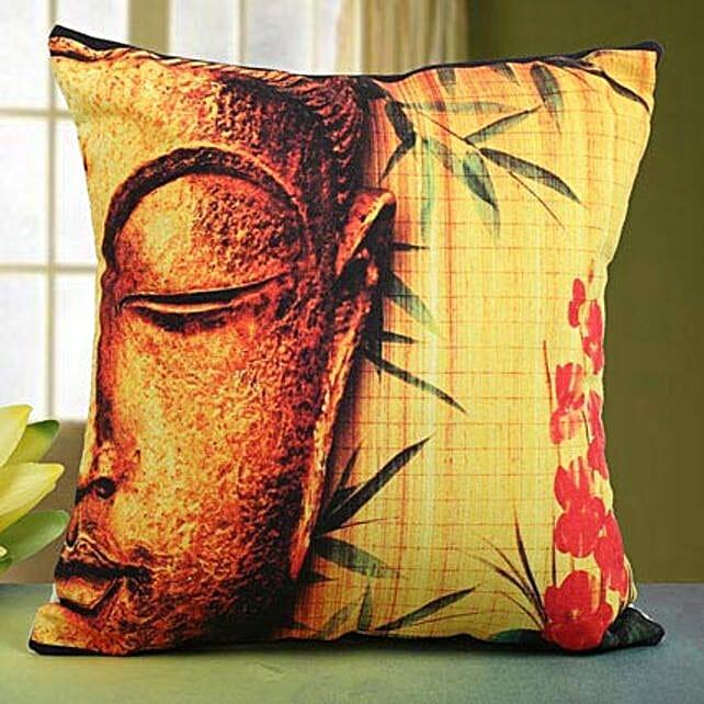 Divine Buddha Cushion- Buddha cushion 12x12 inches