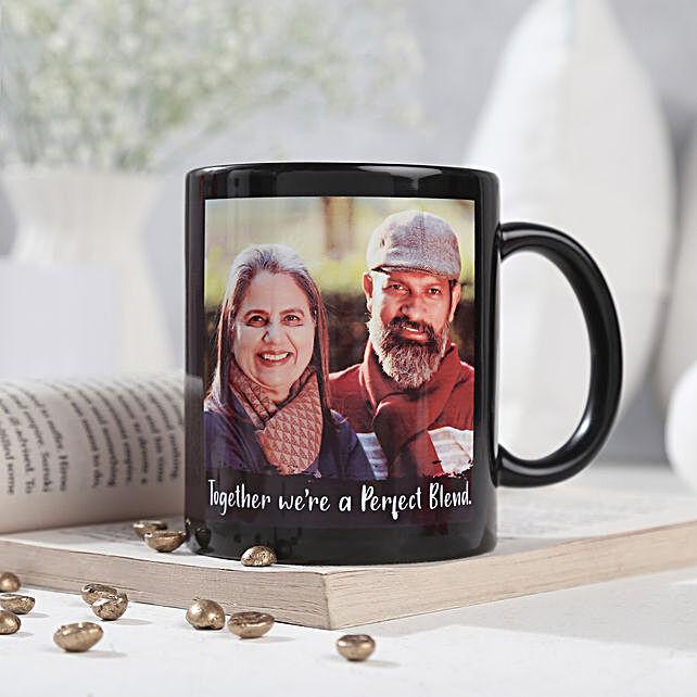 Personalized Couple Mug-printed on black ceramic coffee mug:Gifts to Guna