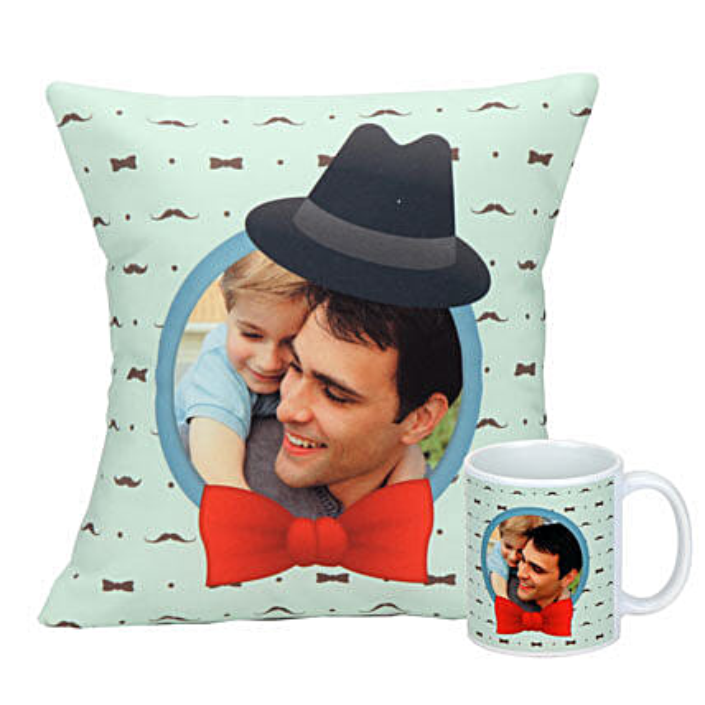Personalized cushion and mug combo