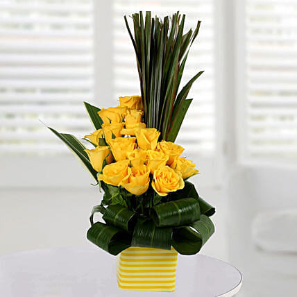 Enchanting Yellow Rose Arrangement
