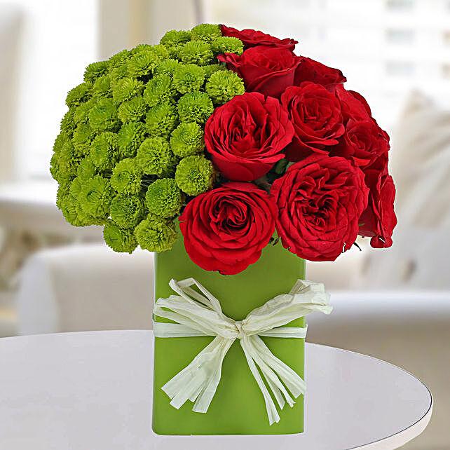 Enticing Red Roses Arrangement