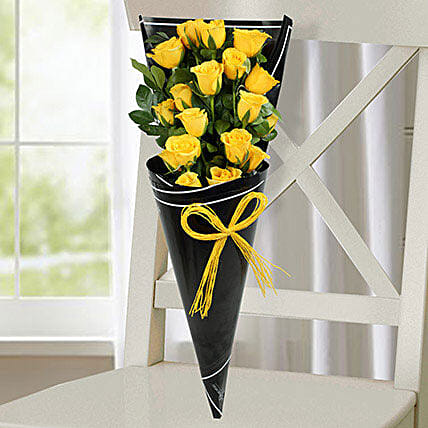 Yellow Rose Flower Bouquets