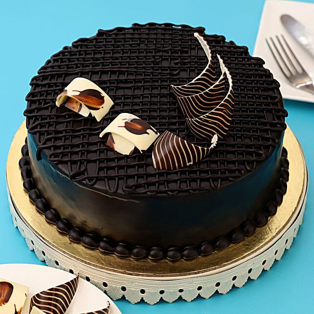 Rich Chocolate Splash Cake 1kg Eggless