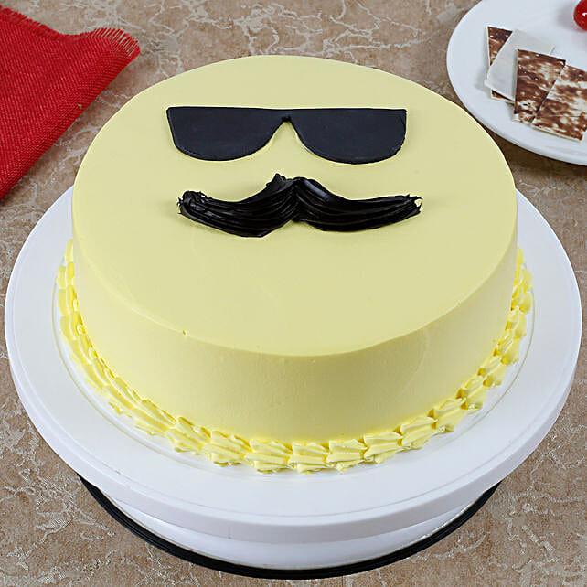 Cool Dad Emoji Cream Cake Vanilla Cake 2kg Eggless