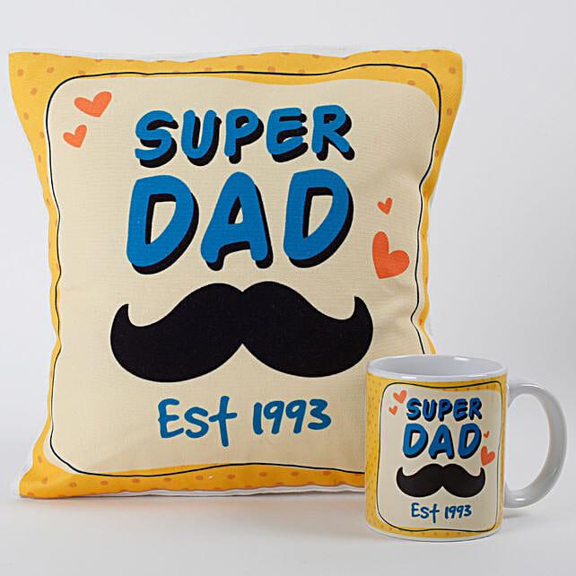 Super Dad Mug And Cushion Combo