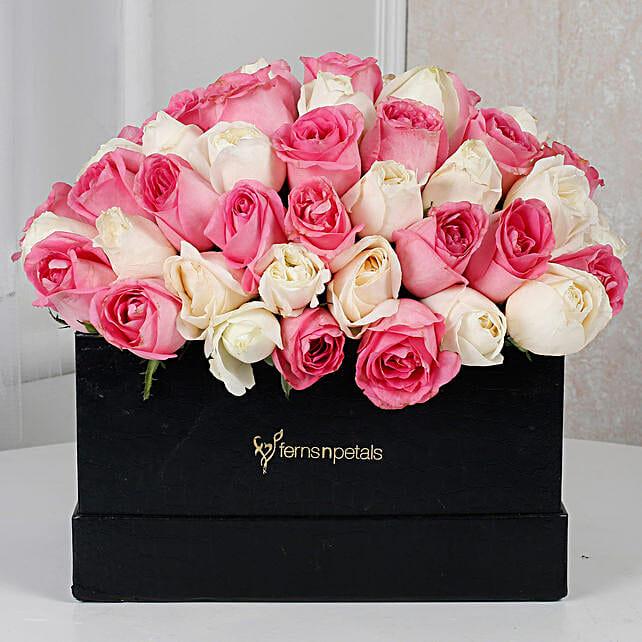 Cardborad Box flower arrangement