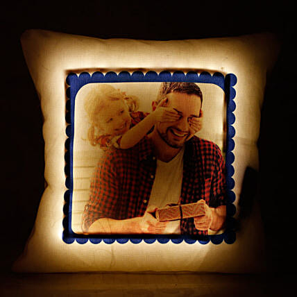 printed led cushion for father