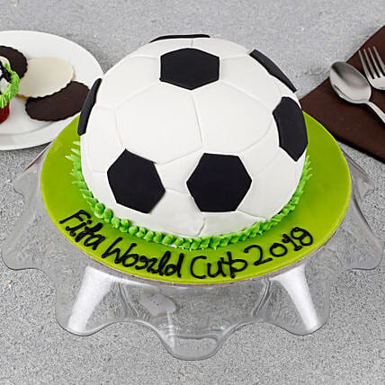 Astounding Football Special Birthday Cake 2Kg Eggless Gift Football Cake Personalised Birthday Cards Paralily Jamesorg