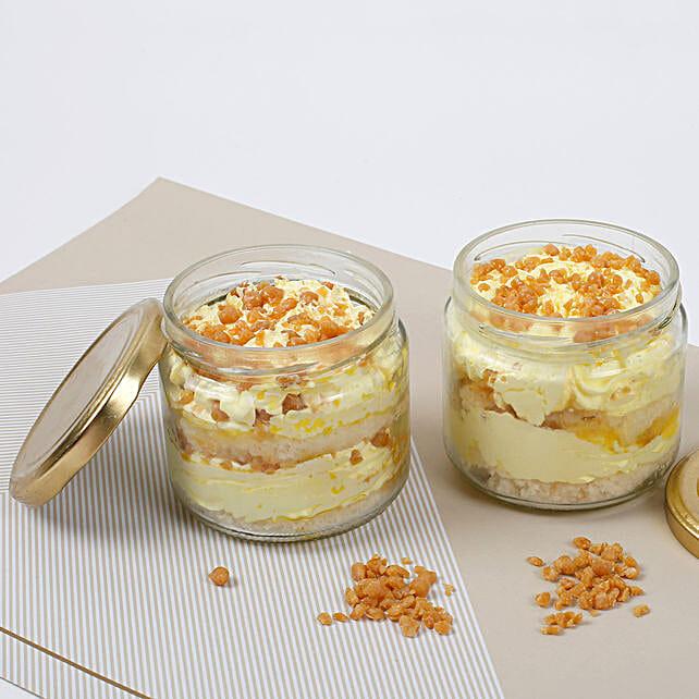 Crunchy Butterscotch Jar Cake:Jar Cakes
