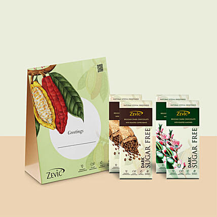 Zevic Roasted Almond n Coffee Beans Chocolate Gift Pack