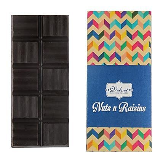 Nuts And Raisins Dark Chocolate Bar