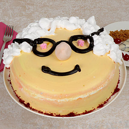 Vanilla Cool Cake for Grand Parents Day Online