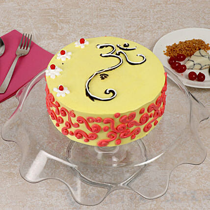 Traditional Butterscotch Cake Half Kg Eggless