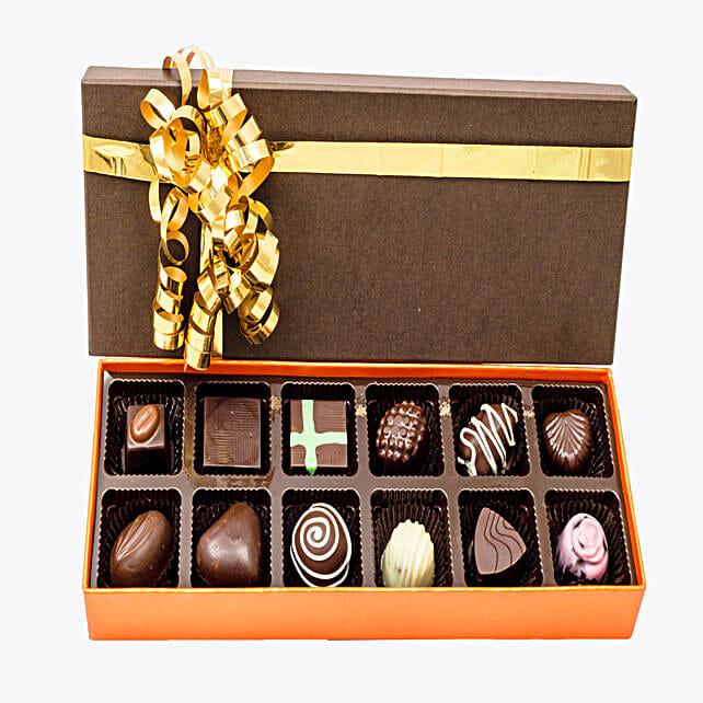 Box of 12  Chocolates:Handmade Chocolate Box