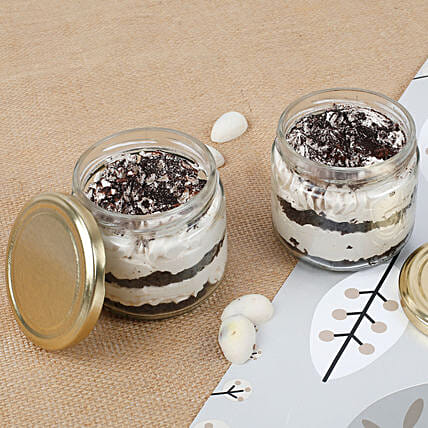 Trendy Tiramisu Jar Cake Set of 2