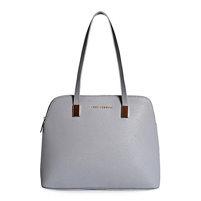 Lino Perros Exquisite Grey Handbag