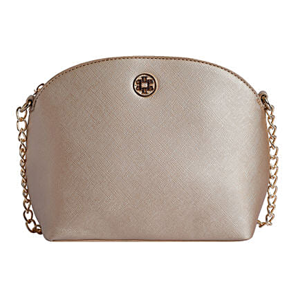 Lino Perros Golden Sling Bag For Party