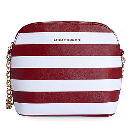 Lino Perros Stripped Red Sling Bag