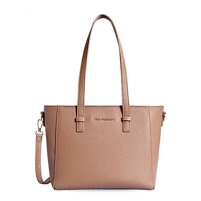 Lino Perros Womens Handbag-Beige