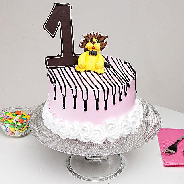 First Birthday Truffle Cake 3 Kg Eggless