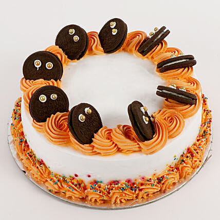 Cookie Monster Butterscotch Cake 1 Kg Eggless