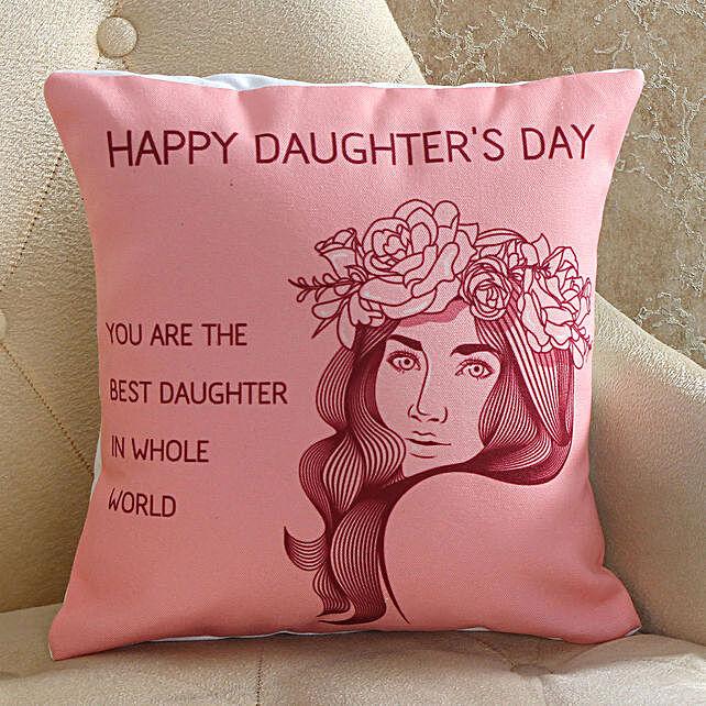 wishing daughter day cushion