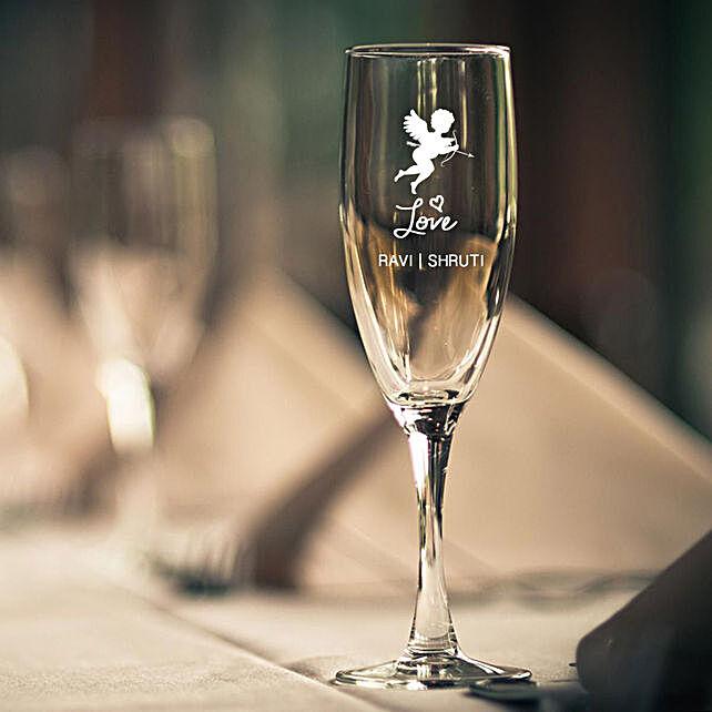 Champagne Glass:Personalised Glassware