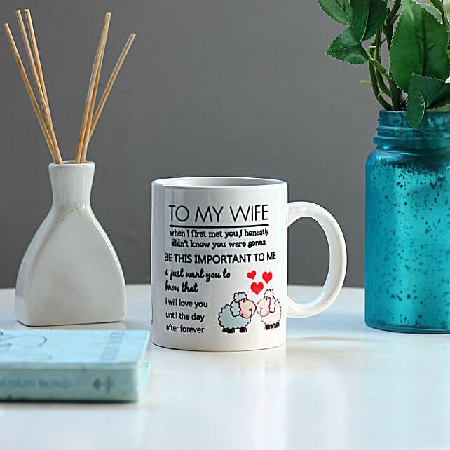 To My Wife Printed White Mug