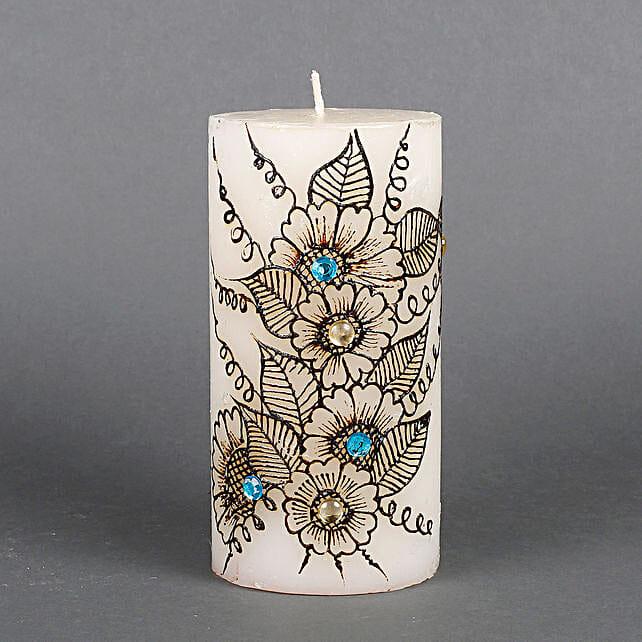 Flower design candle