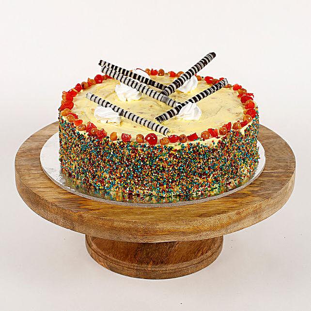Colored Vermicelli Vanilla Cream Cake- 1 Kg