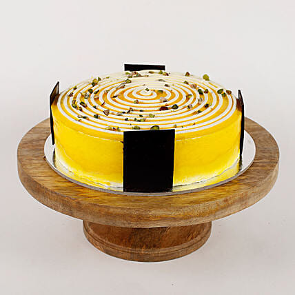 Cream Circle Pineapple Cake- 2 Kg Eggless