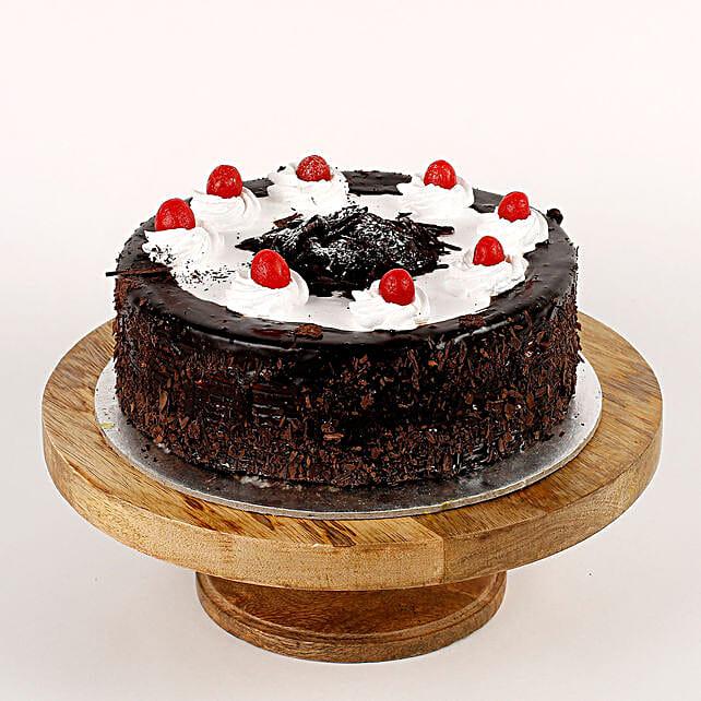 Cream Drop & Cherry Black Forest Cake- 1 Kg