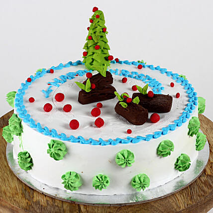 Christmas Tree Theme Black Forest Cake- 2 Kg Eggless