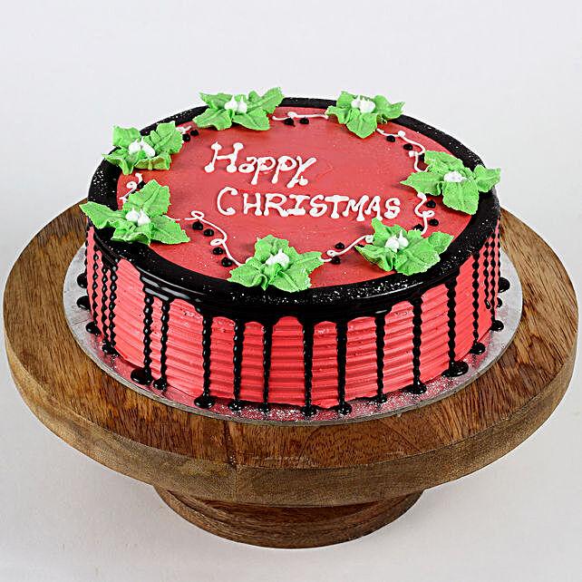 Mistletoe Christmas Strawberry Cake- Half Kg