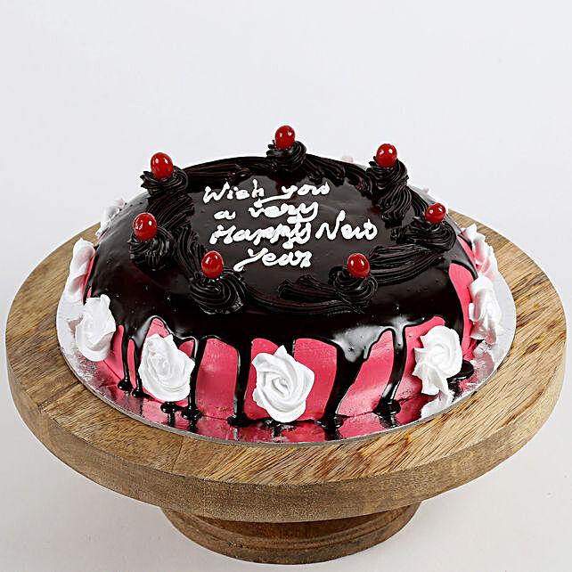 New Year Cherry Pineapple Cake- 1 Kg Eggless