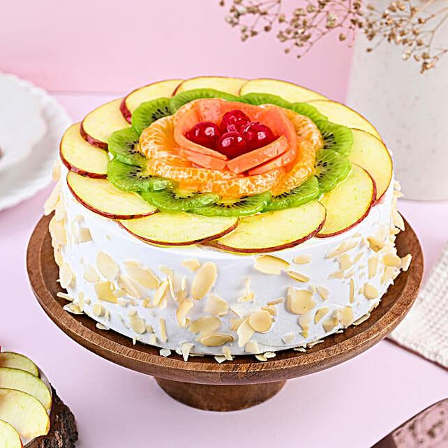 Creamy Vanilla Fruit Cake Half Kg Eggless