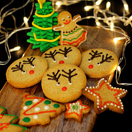 sweet ginger cookies for Christmas