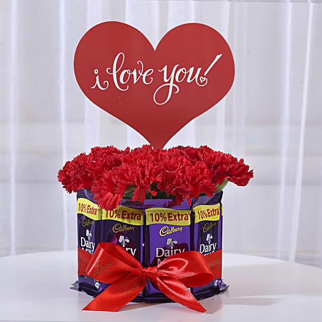carnations dairy milk chocolate bouquet 1