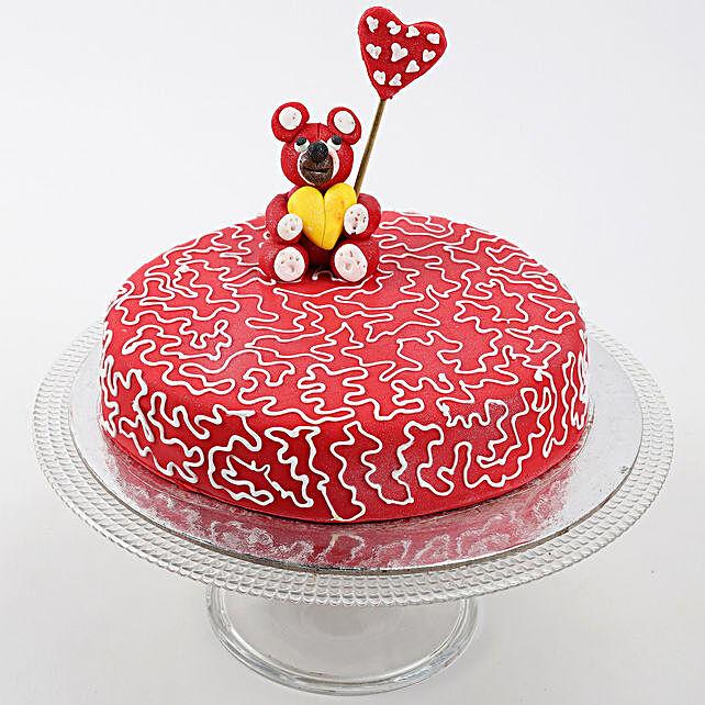 Teddy Hearts Chocolate Cake 1 Kg Eggless