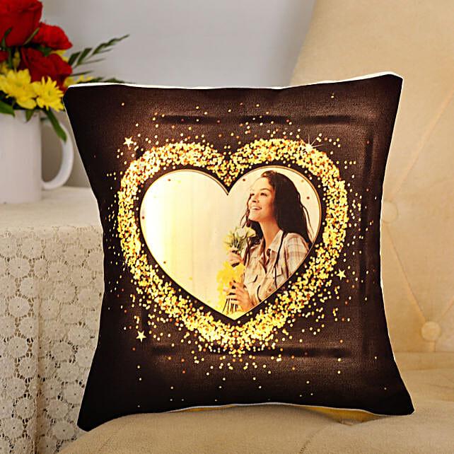 photo printed led cushion for valentine