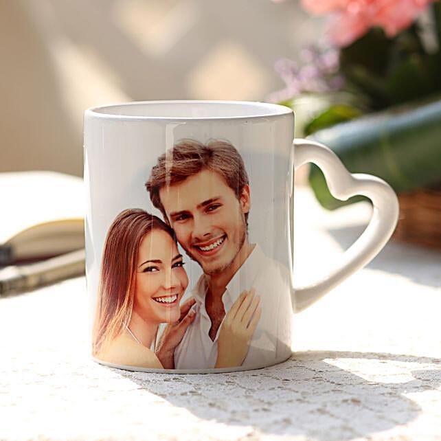 Online Valentine's Heart Handle Mug